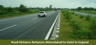 Road Distance Between Ahmedabad to Halol in Gujarat
