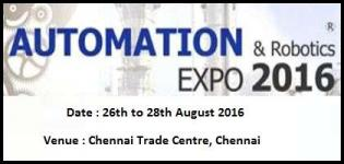 Robotics and Automation Chennai - Exhibition & Conference on Robotics & Automation 2016