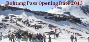 Rohtang Pass Opening Date in 2013 - Rohtang Pass Opening Time 2013