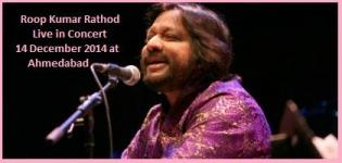 Sufi Ghazal Singer Roop Kumar Rathod Live in Concert in Ahmedabad on 14 December 2014
