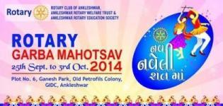 Rotary Garba Mahotsav 2014 Ankleshwar - Navratri Dandiya Event in Ankleshwar