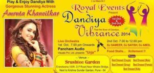 Royal Event Present Dandiya Vibrance 2014 at Srushtee Garden Pune