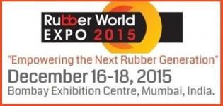 Rubber World Expo 2015 - India Rubber Expo & Tyre Show at Mumbai