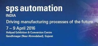 SPS Automation India Exhibition 2016 Gandhinagar Gujarat from 7 to 9 April