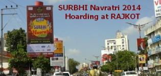 SURBHI Navratri 2014 Hoarding as Outdoor Advertisement Campaign at RAJKOT Kalawad Road