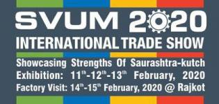 SVUM International Trade Show 2020 in Rajkot from 11 February to 15 February