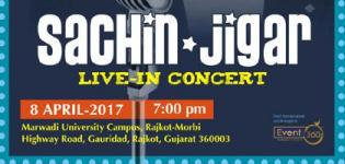Sachin Jigar Live Concert 2017 in Rajkot at Marwadi University