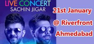 Sachin Jigar Live in Concert 2019 in Ahmedabad on 21st January at Riverfront