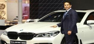 Sachin Tendulkar Launched New BMW 7-Series at Auto Expo 2016 in Delhi India