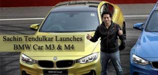 Sachin Tendulkar Launches BMW M3 Sedan and M4 Coupe Luxury Cars in Noida India