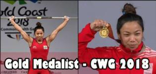 Saikhom Mirabai Chanu Gold Medalist in Commonwealth Games 2018 for Weightlifting