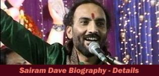 Sairam Dave Biography - Sairam Dave Gujarati Comedian Information - About - History - Details