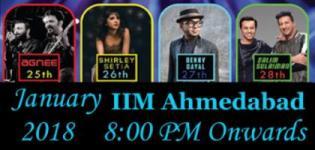 Salim Sulaiman Benny Dayal Shirley Setia Agnee Live IIMA Chaos 2018 - Details
