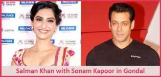 Salman Khan with Sonam Kapoor in Gondal Gujarat for Shooting
