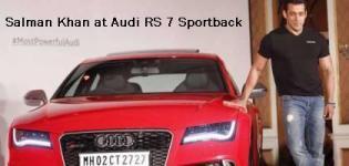 Salman Khan at Audi RS 7 Sportback Launching Event in Mumbai Photos
