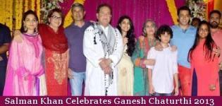 Salman Khan Celebrates Ganesh Chaturthi 2013 - Ganpati Festival Photos Images