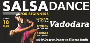 Salsa Sundays - New Beginner Batch 2018 in Vadodara Date and Venue Details