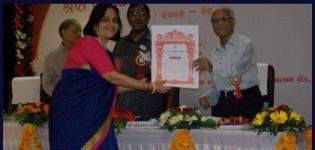 Sanskritirani Desai Received The Gujarat Sahitya Akademi Award 2013
