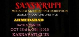 Sanskruti Mega Diwali Shopping Exhibition cum Sale 2015 in Ahmedabad at Karnavati Club