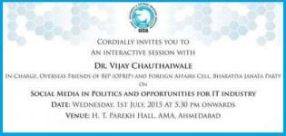 Seminar on Social Media in Politics and Opportunities for IT Industry by Dr Vijay Chauthaiwale