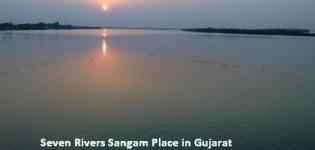 Seven Rivers in Gujarat Meeting Point and Sangam Place Details