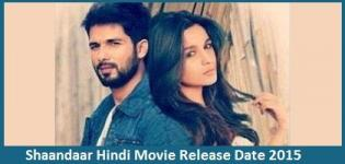 Shaandaar Hindi Movie Release Date 2015 - Star Cast & Crew Details