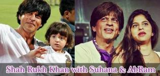 Shah Rukh Khan Comes with Daughter Suhana and Son AbRam for IPL Tournament