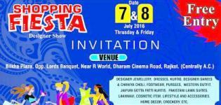 Shopping Fiesta Designer Show 2016 in Rajkot - Date Time Venue Details