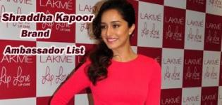 Shraddha Kapoor Brand Ambassador List - Endorsement Photo Gallery
