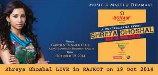 Shreya Ghoshal in RAJKOT 2014 - SHREYA GHOSHAL Live In Concert at RAJKOT on 19 October