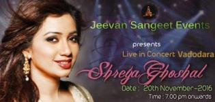 Shreya Ghoshal in Vadodara 2016 - SHREYA GHOSHAL Live In Concert on 20th November