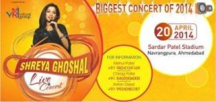 Shreya Ghoshal Live In Concert 2014 in Ahmedabad Gujarat