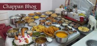 Shrinathji Annakut Darshan - Chappan Bhog Food Items Name List for Lord Krishna