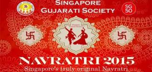 Singapore Gujarati Society Navratri 2015 at Grand Ballroom from 15th to 18th October 2015