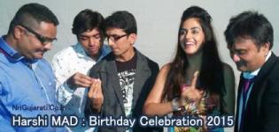 Singer Harshi Mad : Birthday Celebration & Cake Cutting Photos 2015 with SUR Gujarat Ke Team