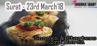 Snacks & Starters Event in Surat 2018 - Food Varieties - Date and Venue Details
