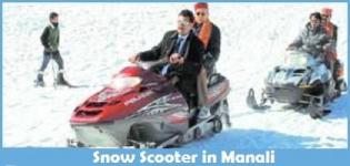 Snow Scooter in Manali - Snow Scooter in Rohtang Pass