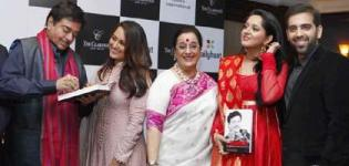 Sonakshi Sinha in Pink Suit at Launch of Shatrughans Biography Anything But Khamosh