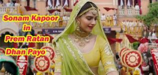 Sonam Kapoor in Prem Ratan Dhan Payo Pics Recent Photos Latest Images 2015
