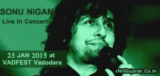 Sonu Nigam Live In Concert 2015 at Vadodara India on 25 January - VADFEST 2015