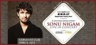 Bollywood Singer Sonu Nigam Live in Concert in Ahmedabad from 4th April 2015