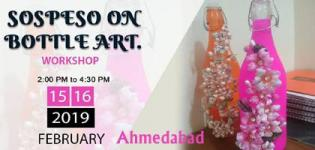 Sospeso on Bottle Art Workshop 2019 in Ahmedabad - Creative Art Design Details