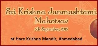 Sri Krishna Janmashtami Mahotsav in Ahmedabad at Hare Krishna Mandir