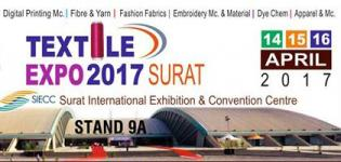 Stand 9A Textile Expo 2017 in Surat - Textile Exhibition at Surat International Exhibition and Convention Centre