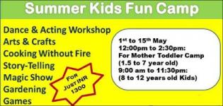 Summer Kids Fun Camp 2018 for Little Children in Vadodara City – Summer Camp Detail