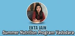 Summer Nutrition Program 2018 in Vadodara with Ekta Jain Nutritionist