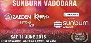 Sunburn Reload 2016 in Vadodara at Aarana Lawns on 11th June - Details