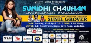 Sunidhi Chauhan and Sunil Grover Live Concert 2017 in Vadodara at S B Patel Farm