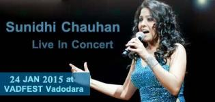 Sunidhi Chauhan Live in Concert 2015 at Vadodara India on 24 January - VADFEST 2015