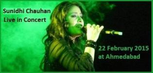 Sunidhi Chauhan Live in Concert 2015 at Ahmedabad India on 22 February